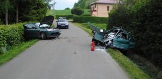Brzozów -Czołowe zderzenie w Jasionowie
