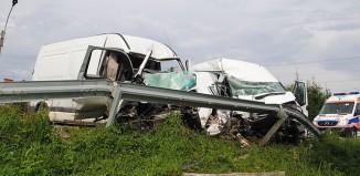 Brzozów -Wypadek w Humniskach – czołowe zderzenie busów