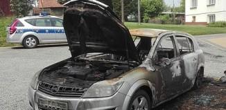 Brzozów -Przed domem spłonął samochód